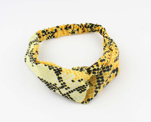 Gele Hoofdband - Tammy - Snake Look Print - Fashion4