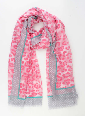 Gevlekte Bolletjes Sjaal - Casual Summer Nights - Roze - Fashion4