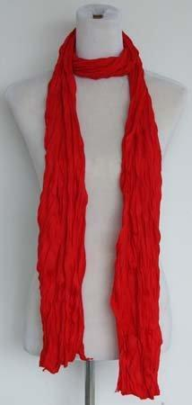 Kleine Jersey-Stof Sjaal - vuur rood - Fashion4