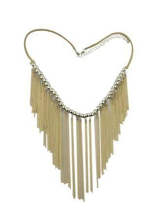 Korte Ketting - Lange Kwasten - Burlywood Beige - Fashion4