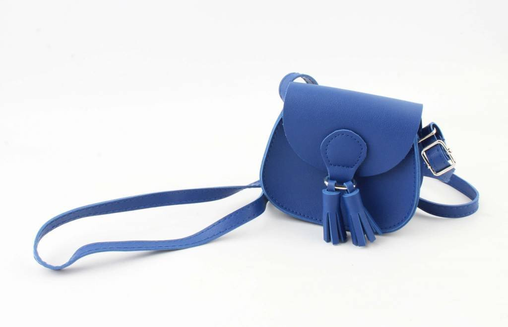 Mini tas - Tassel kobalt blauw - Fashion4