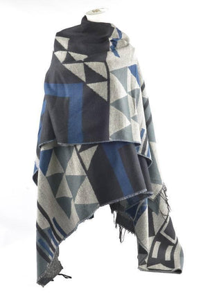 Omslagdoek - Symmetrisch Arrow Design - Navy Blue - Fashion4