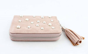 Portemonnee small  - Pearls roze - Fashion4
