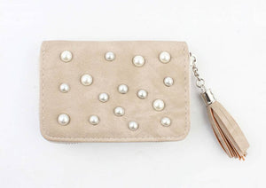 Portemonnee small  - Pearls taupe - Fashion4