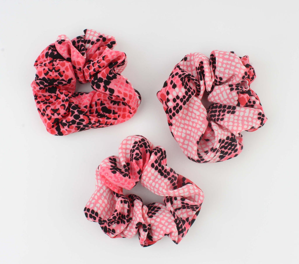 Roze Scrunchie -  Koutou - Snake Look Print - Fashion4