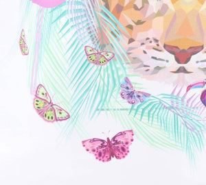 Rugzak - Butterfly & Flamingo wit - Fashion4