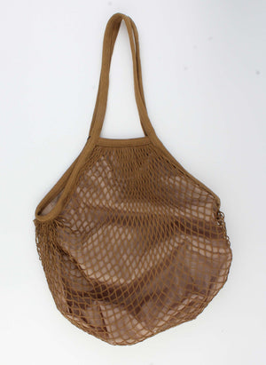 Shopper - Designer Net Tas - Bruin 34x38cm - Fashion4