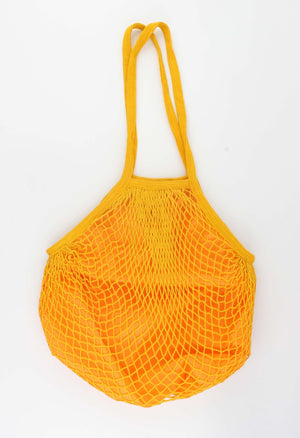 Shopper - Designer Net Tas - okergeel 34x38cm - Fashion4