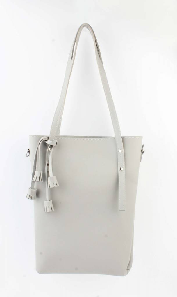 Shopper - Tassel - grijs - Fashion4