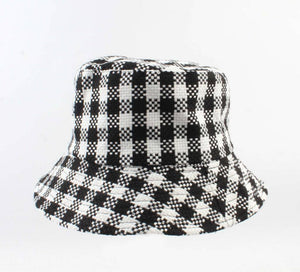 Visserspet/Sailorcap - Retro Ruiten - Zwart/wit - Fashion4