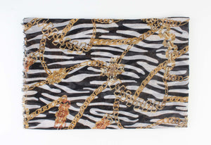 Zebra Sjaal - Golden Chains - Fashion4