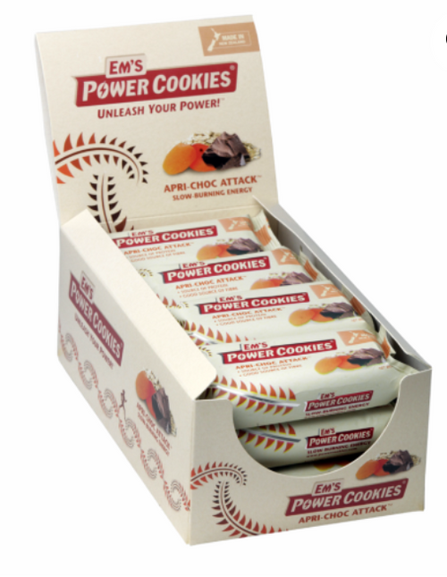 EM'S POWER COOKIES, APRI-CHOC ATTACK BAR – 12 BOX