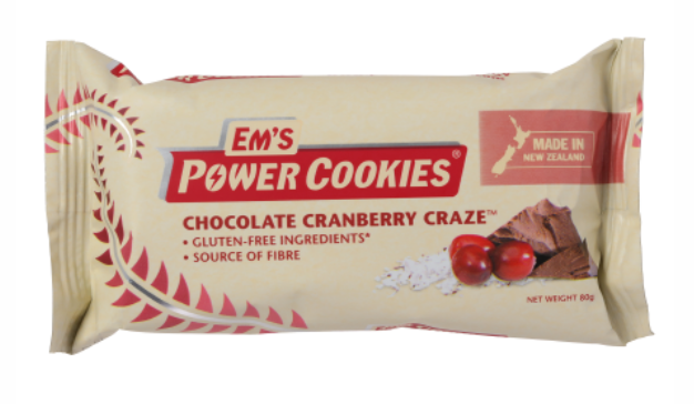 EM'S POWER COOKIES, CHOCOLATE CRANBERRY CRAZE BAR – 12 BOX