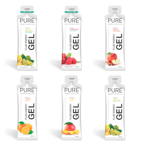 PURE FLUID ENERGY GEL BOX (18 GELS)