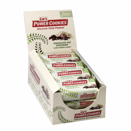 EM'S POWER COOKIES, CHOCOLATE OAT EXPLOSION BAR – 12 BOX