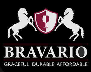 bravario unbreakable wine glasses logo