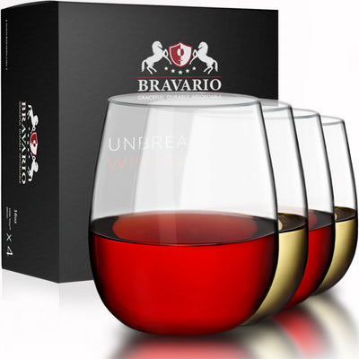Unbreakable Wine Glasses Stemless