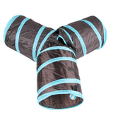 Foldable 3 Way Pet Cat Tunnel
