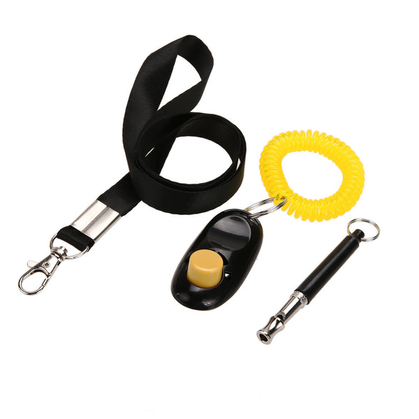 Ultrasonic Dog Whistle And Training Clicker Set With Free Lanyard