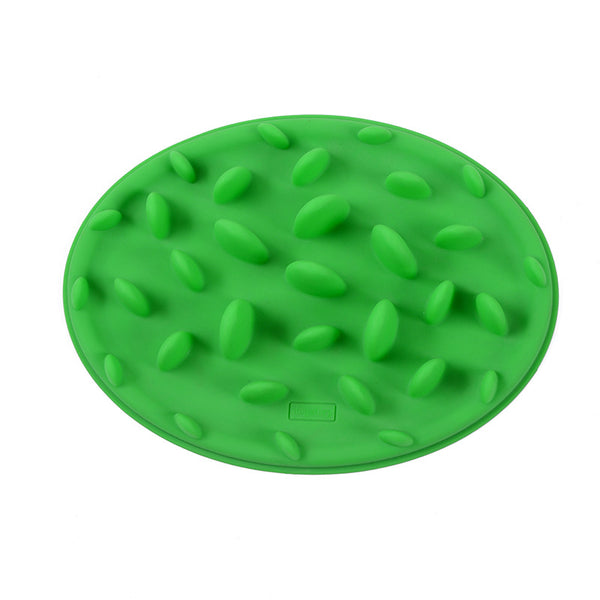 Green Feeder Slow Pet Feeder Silicone Bowl