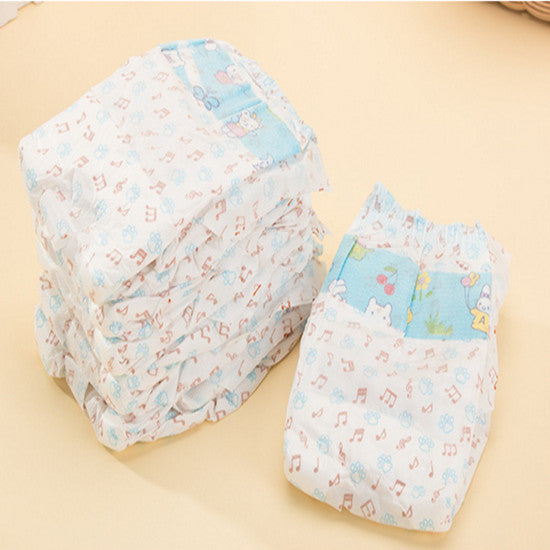 Dog Nappies - Disposable Male Dog Nappies/ Diapers Belly Wrap (Pack of 10) With Wetness Indicator