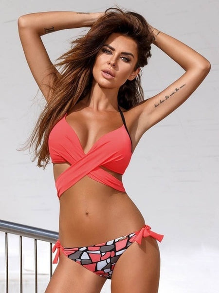 Maillot Cross Push Up Bikini - Bealady