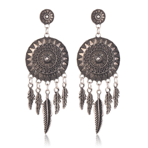 Dream Catcher Dangle Earrings - Bealady