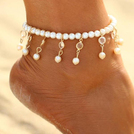 Multilayer Sexy Crystal Anklet
