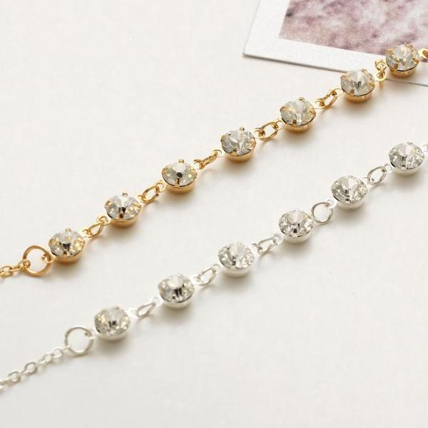 Fashion Crystal Anklet - Bealady