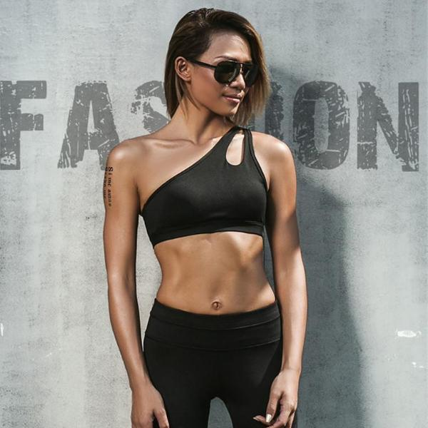 One Shoulder Shock Proof Sports Bra - Bealady