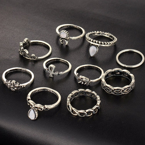 Vintage Beach Knuckle Ring Set - Bealady