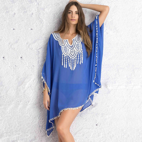 Indigo Kaftan Beach Cover Up - Bealady