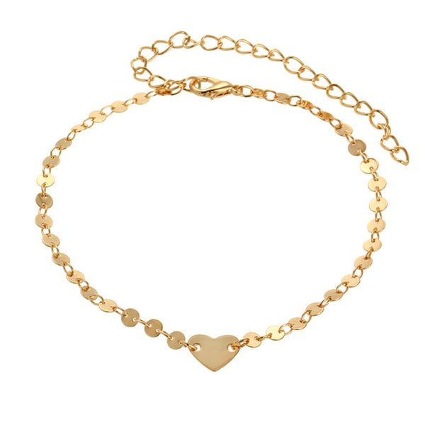 Vintage Heart Anklet - Bealady