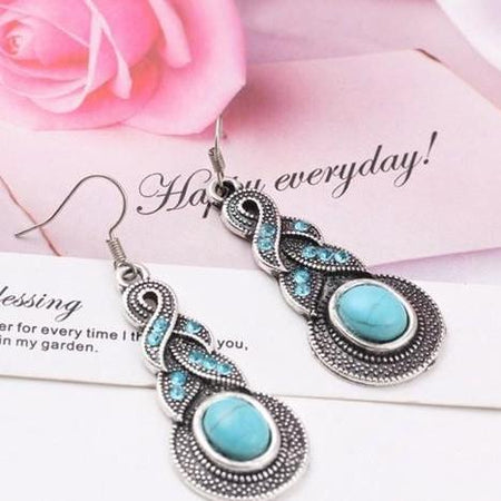 Hollow Heart Drop Earrings