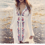 Embroidery Beach Cover Up - Bealady