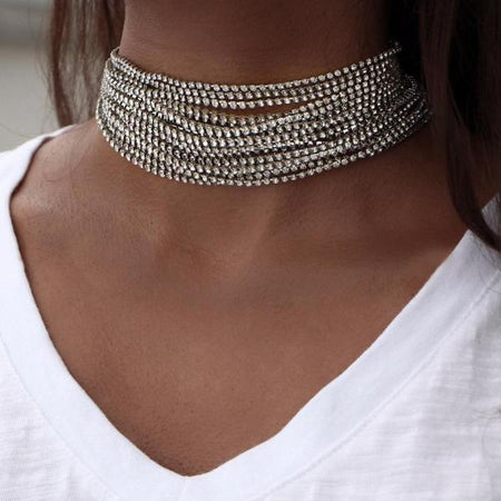 Gothic Leather Choker Necklaces
