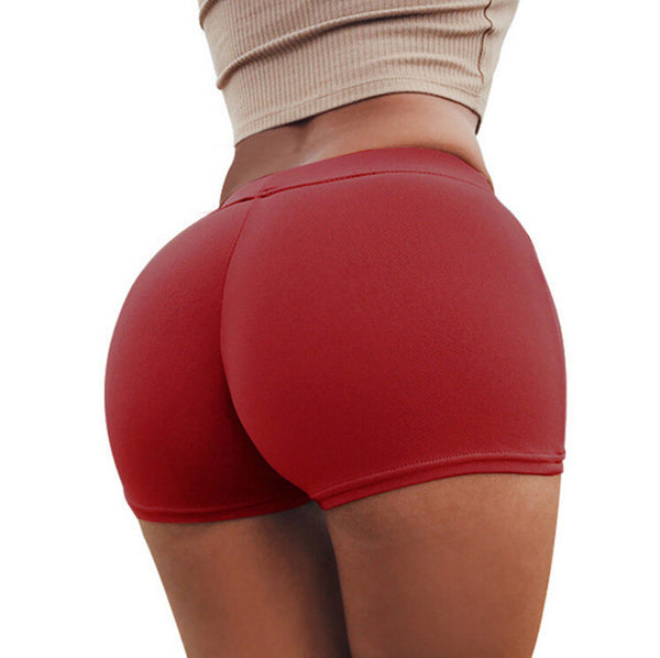 Lucy Elastic Push Up Yoga Shorts - Bealady