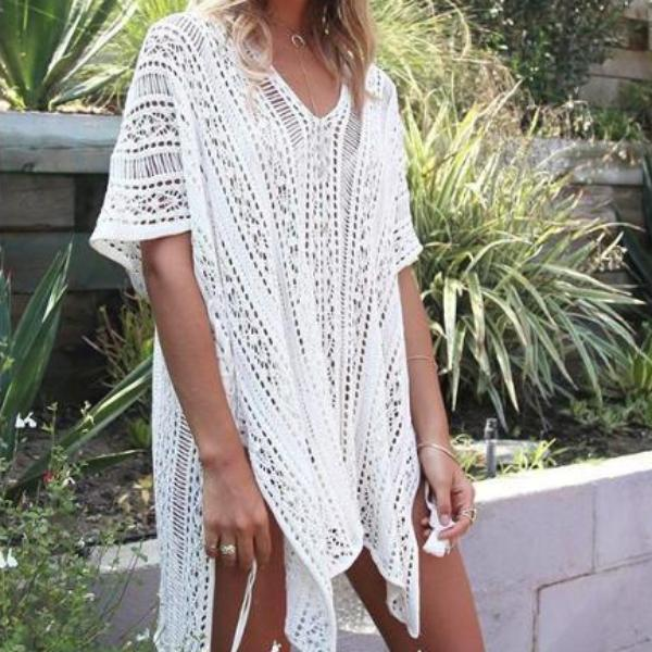 Intimacy Crochet Beach Cover Up - Bealady