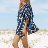 V-neck Bandage Beach Cover Up - Bealady