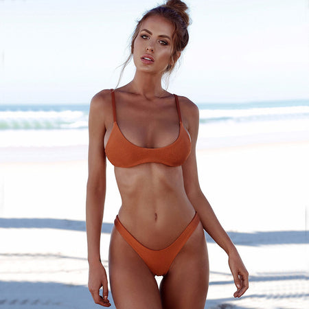 High Wasit Push Up Bikini