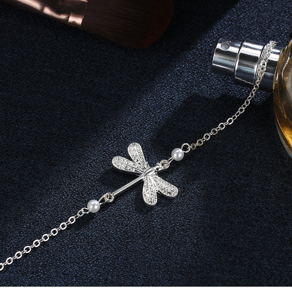 Silver Butterfly Anklet - Bealady