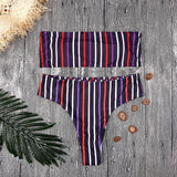 Double Striped Bikini - Bealady
