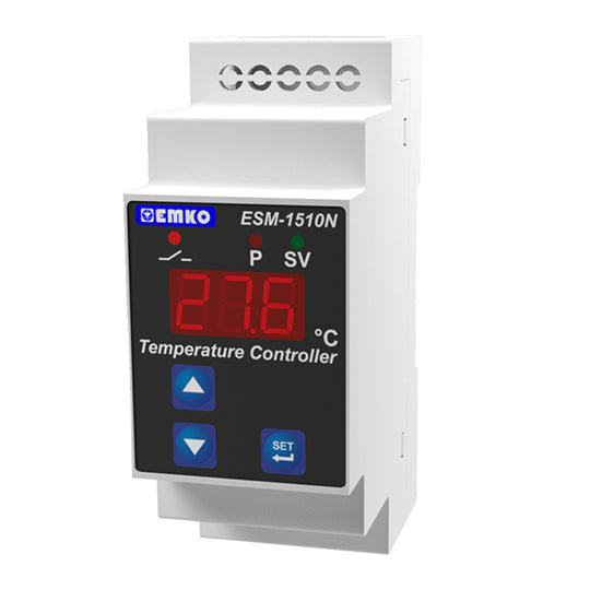 Digital ON/OFF Temperature Controller, PTC, 1 Relay Output, DIN Type