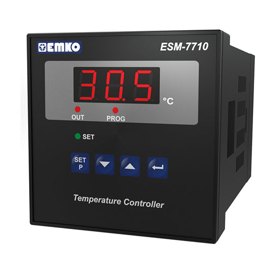 Digital ON/OFF Temperature Controller, PT-100, 2 Relay Output, 72x72