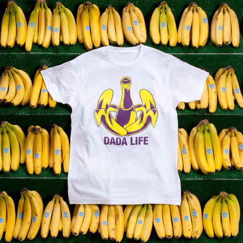 Logo Tee (White - Purple/Yellow)