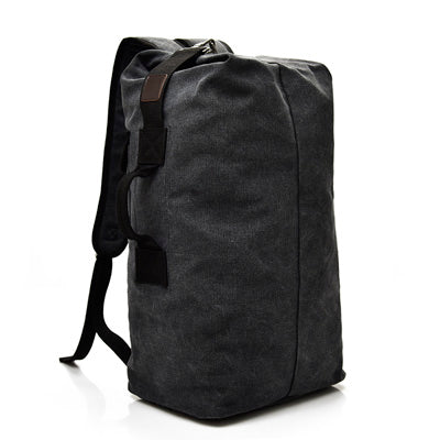 Bucket Shoulder Bag Male Canvas Backpacks