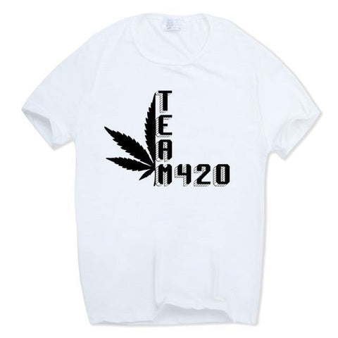 Cannabiss Weed Herb T-shirt Team 420