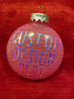 Bubble Gum Pink Custom Christmas Ornaments