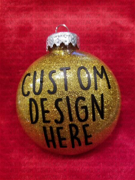 Gold Custom Christmas Ornaments