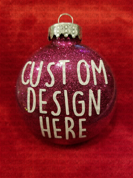 Pink Custom Christmas Ornaments